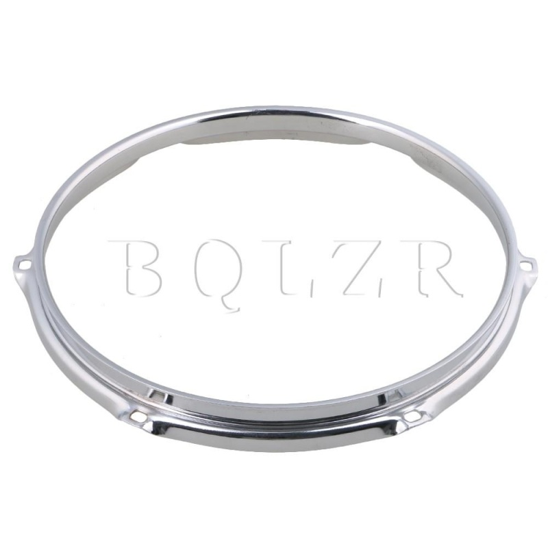 10 Inch 6 hole Snare Drum Hoops Rims for Drums and Percussion Silver - intl