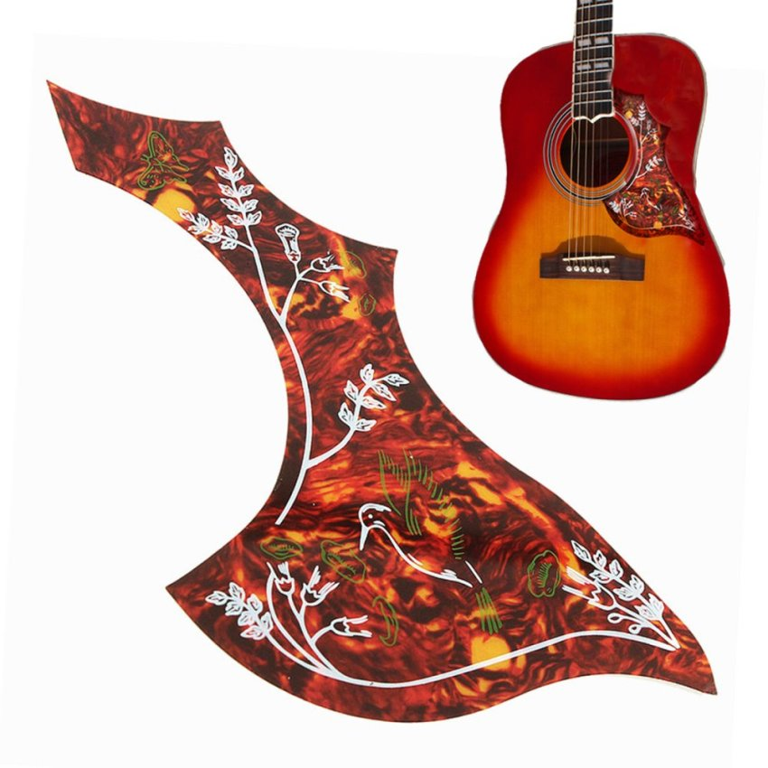 1Pcs Acoustic Guitar Anti-Scratch Folk Pickguard Guard Plate Guitar Parts Decor - Intl