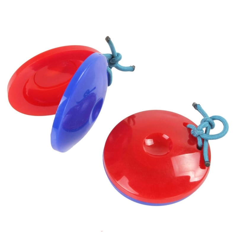 2PCS Finger Castanets Percussion Instrument Idiophone for Dance KTV Party Games - intl