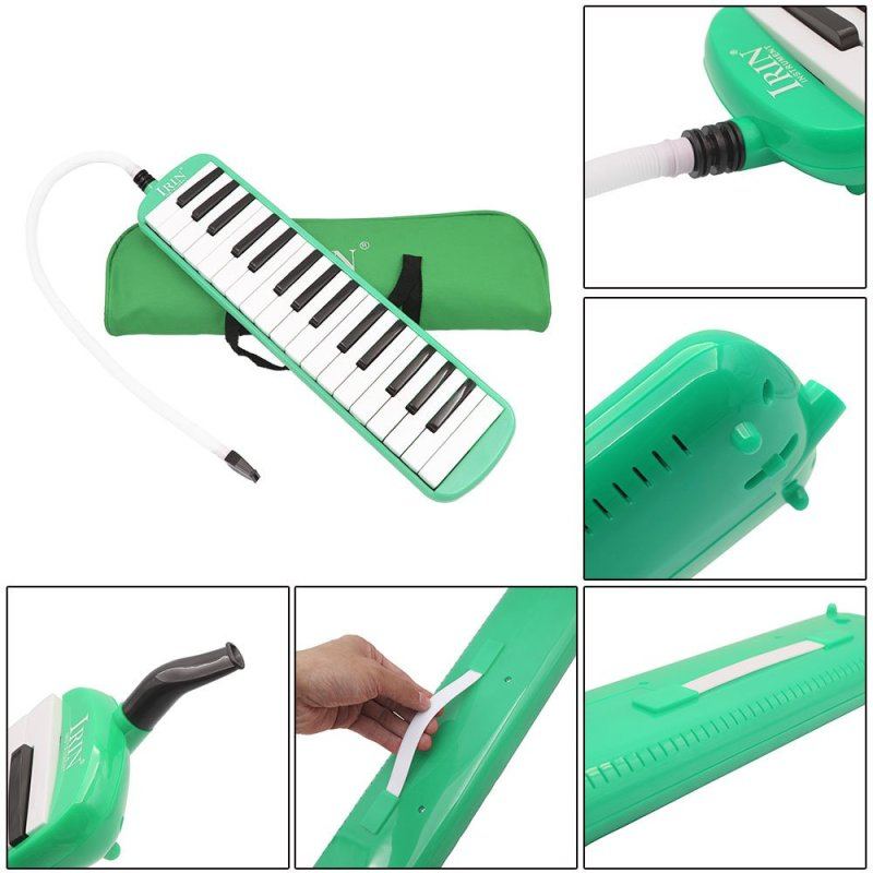 32 Piano Keys Melodica Musical Education Instrument for Beginner Kids Children Gift with Carrying Bag Green - intl