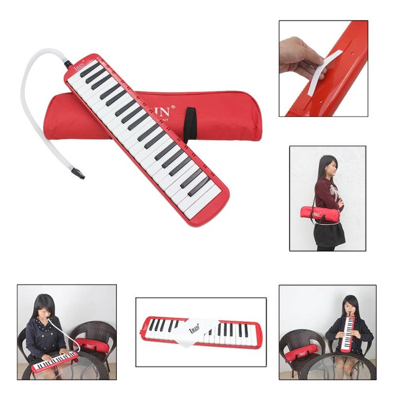 37 Piano Keys Melodica Pianica Musical Instrument with Carrying Bag for Students Beginners Kids - intl