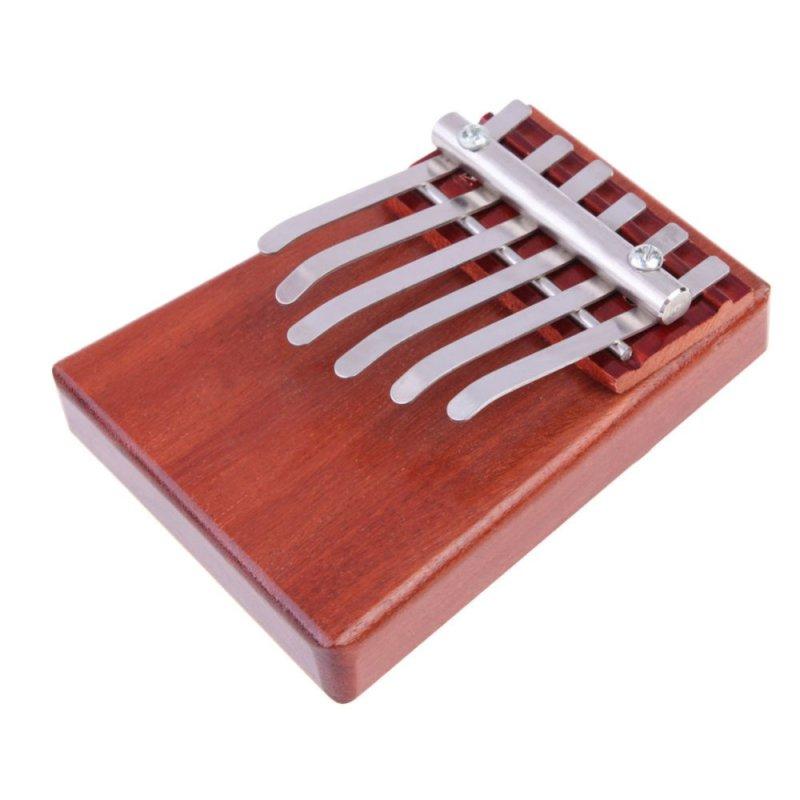 6 Key Kalimba Mbira Likembe Sanza Finger Thumb Piano Rosewood Instrument - intl