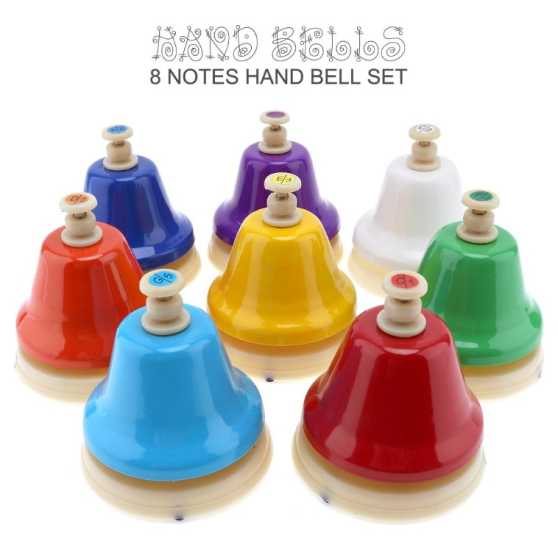 8 Notes Colorful Hand Bell Set Musical Instrment Musical Toy for Children Early Education - intl