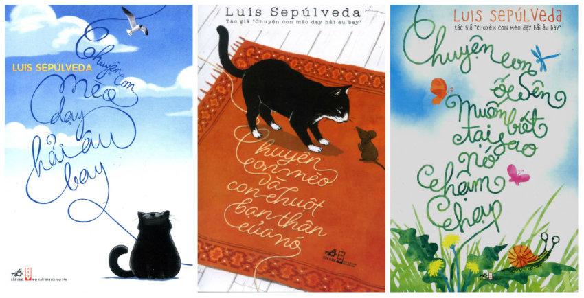 Bộ 3 cuốn: Chuyện Con Mèo Dạy Hải Âu Bay, Chuyện Con Mèo Và Con Chuột Bạn Thân Của Nó, Chuyện Con Ốc Sên Muốn Biết Tại Sao Nó Chậm Chạp