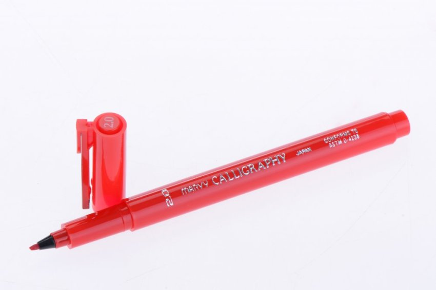 Bút Viết Thư Pháp Marvy 6020 (Đỏ)