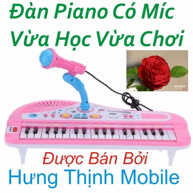 Đàn Piano Mini Có Míc Cho Bé Chất Lượng Âm Thanh Hay Loại Mới ( Hồng )