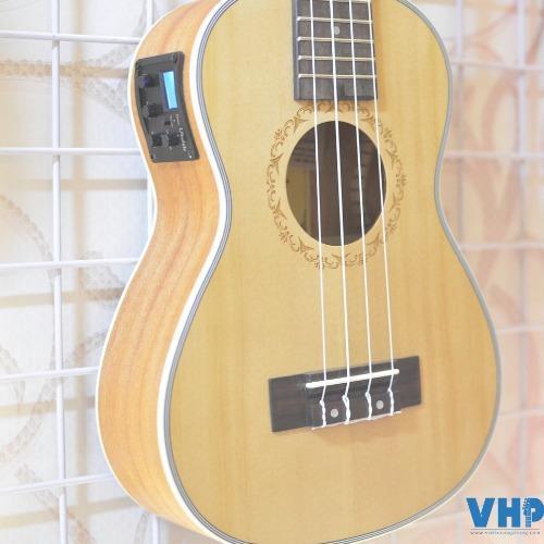 Đàn Ukulele Concert VHP02 Pick-up(Nâu)