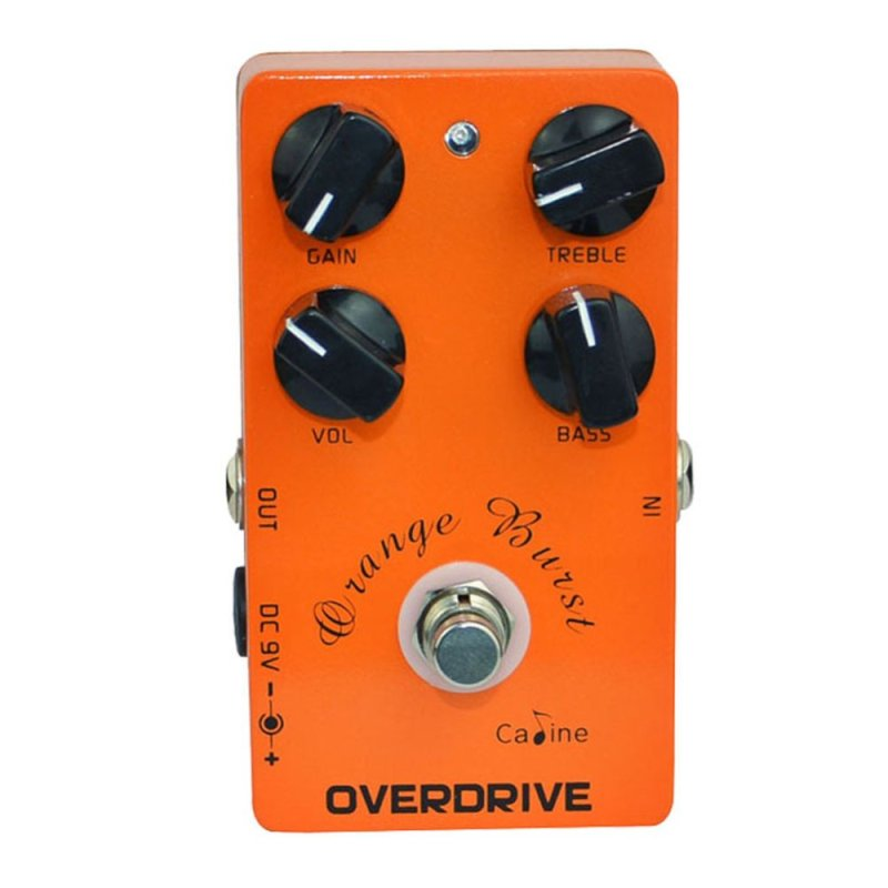 Guitar Overdrive Pedal True Bypass EQ CP-18 Metal Casing Orange - intl