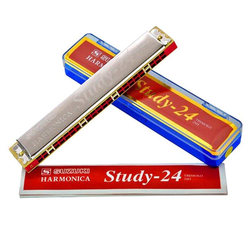 Mua Kèn harmonica tremolo Suzuki Study 24 key C (Bạc)