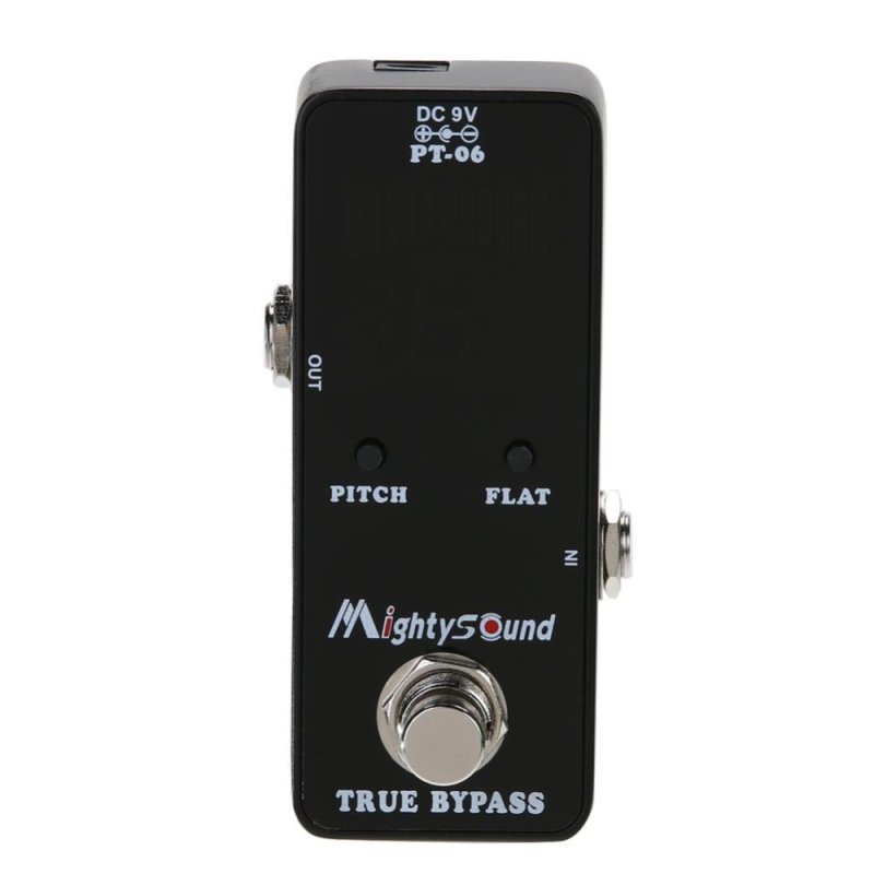 Mighty Sound PT-06 Micro Tuner Chromatic Pedal Guitar Tuner Effects Pedal - Intl - intl