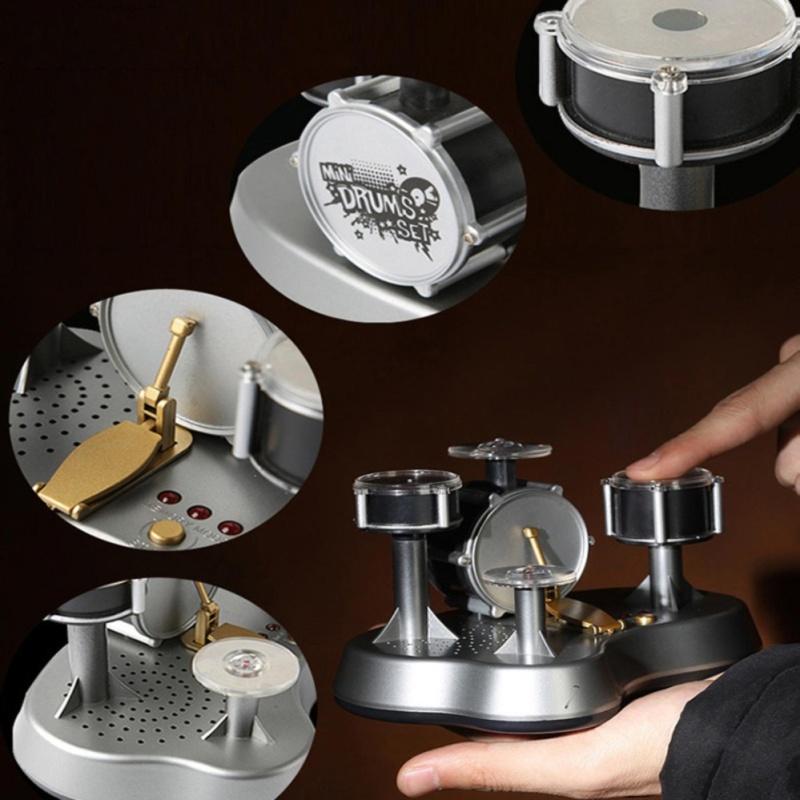 Mini Finger Drum Set Touch Drumming LED Light Jazz Percussion - intl