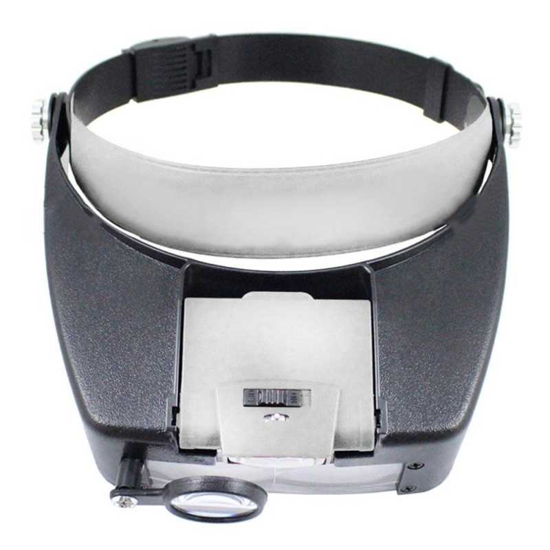 OH Wearable Magnifier Helmet Magnifying Glass Loupe Automatic Boosting Device Grey - intl