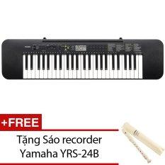 Organ Casio CTK-245 (Đen) + Tặng sáo recorder Yamaha YRS-24B