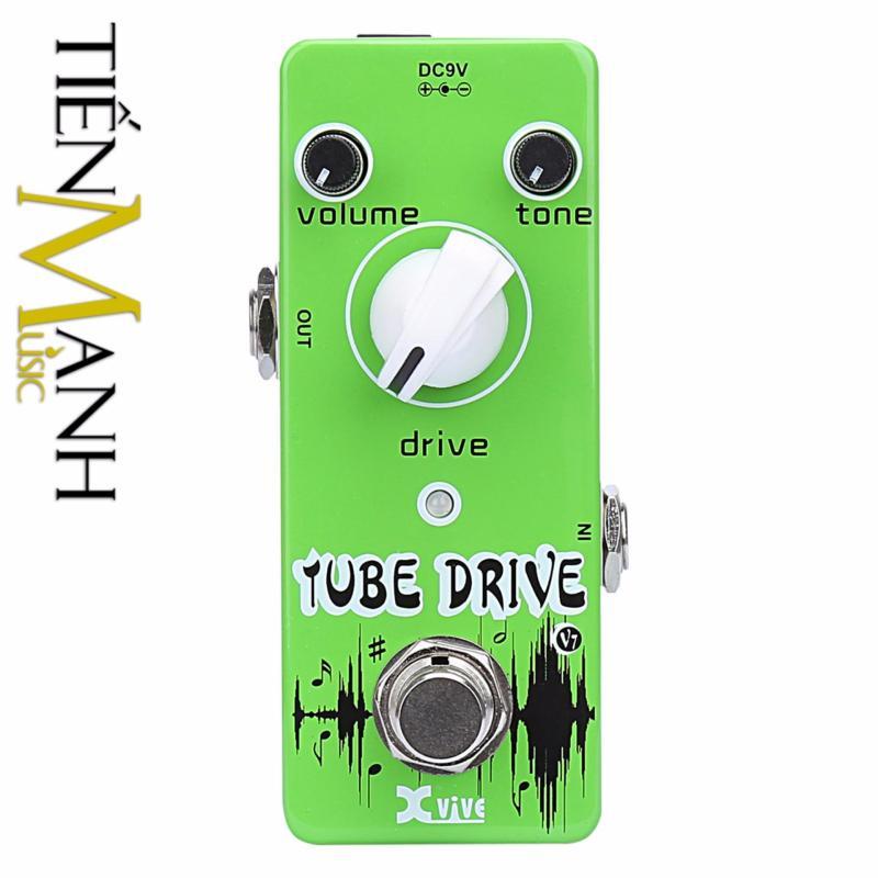 Phơ Guitar Xvive Analog Tube Drive V7 (Có Nguồn xịn đi kèm - Bàn đạp Fuzz Pedals Effects)