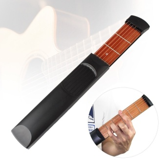 Pocket Acoustic Guitar Practice Tool Gadget Chord Trainer 6 String6 Fret Model for Beginner - intl