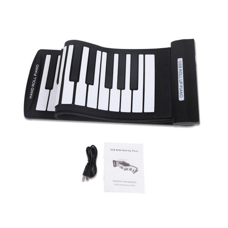 Portable 61 Keys Flexible Roll-Up Piano USB MIDI Electronic Keyboard Hand Roll Piano Outdoorfree - intl