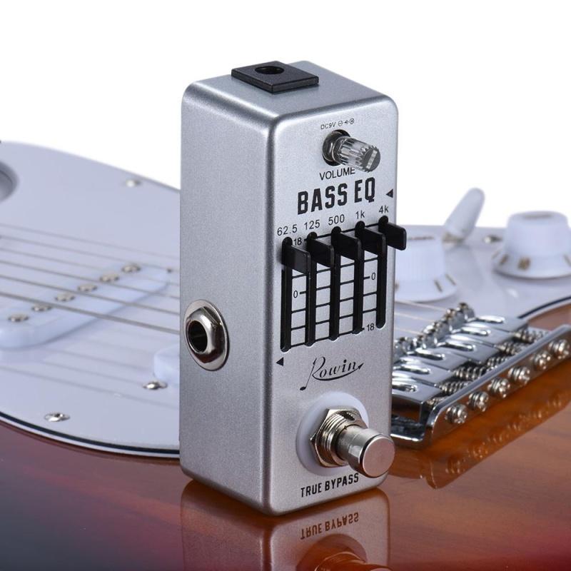 Rowin Bass Guitar Equalizer Effect Pedal 5-Band EQ Aluminum Alloy Body True Bypass - intl