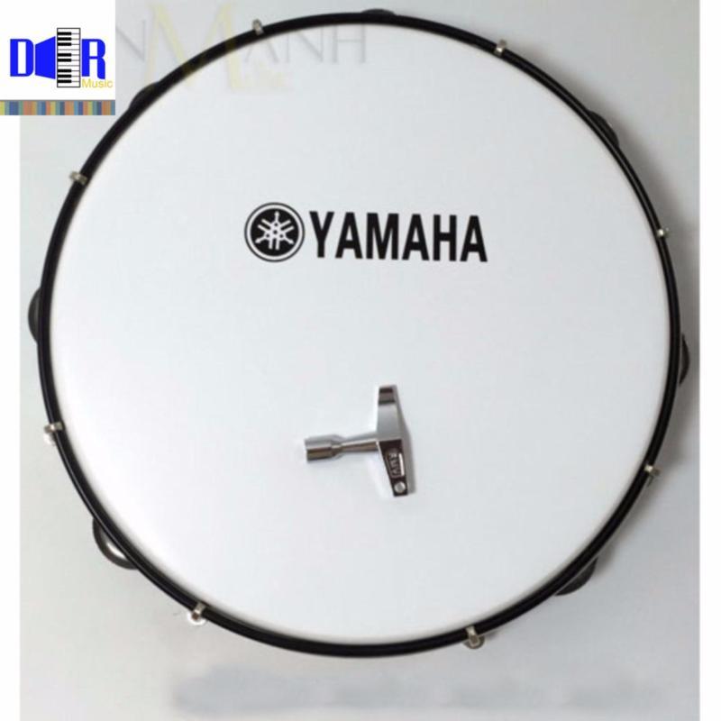 Trống lắc tay - Lục lạc gõ bo Inox Tambourine Yamaha MT6-102A Trắng