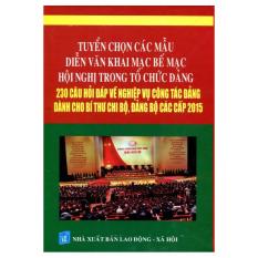Tuyển Chọn Các Mẫu Diễn Văn Trong Tổ Chức Đảng