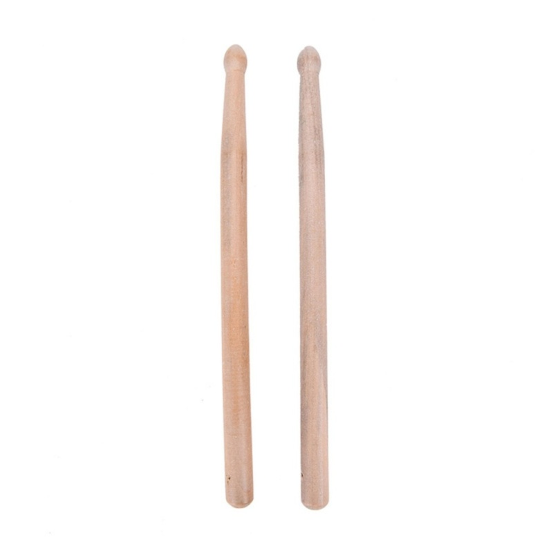 Wood 1 Pair 5a Music Band Maple Tip Drum Sticks Drumsticks Fit For All Drums - intl