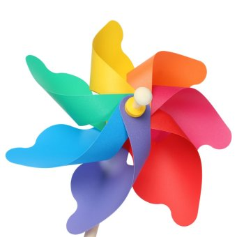 Multi Sizes Colorful Windmill Pinwheel Window Party Festival Decor Kid Toy Gift 24 45 56cm intl