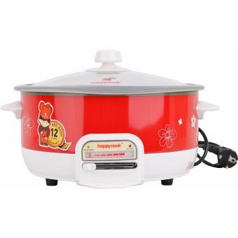 Lẩu điện đa năng thân sơn đỏ Happycook HCHP 302 3L