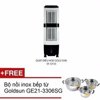 Quạt điều hòa Goldsun EF GY35 Tặng kèm bộ nồi inox 3 đáy