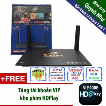 Android TV Box Vinabox X9, Ram 2GB (Đen
