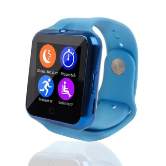 Bluetooth C88 Sync Notify TF SIM camera Smartwatch for IPhone IOS Android for Samsung Sony Xiaomi Blue intl