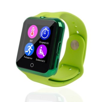 Bluetooth C88 Sync Notify TF SIM camera Smartwatch for IPhone IOS Android for Samsung Sony Xiaomi Green intl