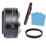 Bộ Ống kính Yongnuo EF YN35mm F2 dành cho Canon kèm 1 kính lọc Kenko UV 52mm và 1 dụng cụ làm sạch bụi ống kính Lenspen (Đen)
