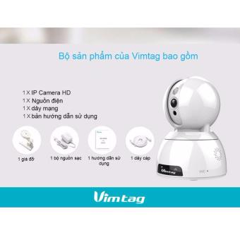 CAMERA WIFI 3G IP TỐT NHẤT - CLOUD VIMTAG CP2 - 720P 1.0 MPX