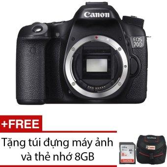 Canon EOS 70D 20.2MP Body WiFi + Tặng 1 túi đựng máy ảnh và 1 thẻ nhớ 8GB - Hãng phân phối chính thức