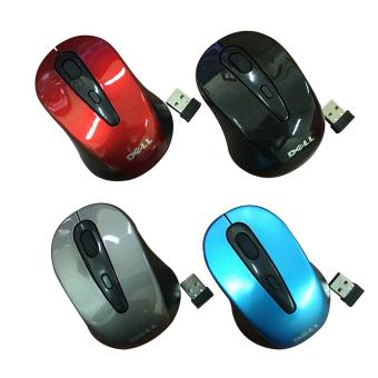 Chuột không dây Dell 2 4 GHz wirless mouse Đỏ