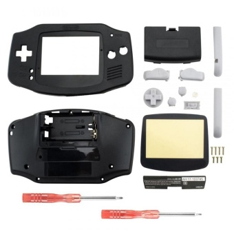 Housing Shell Parts for Nintendo Gameboy Advance GBA Repari Solid Black - intl