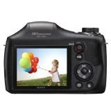 Máy ảnh KTS Sony - DSC-H300 E32 20.1MP và Zoom quang 35x (Đen) + Tặng thẻ 8GB + Bao đựng máy + 4 viên pin AA