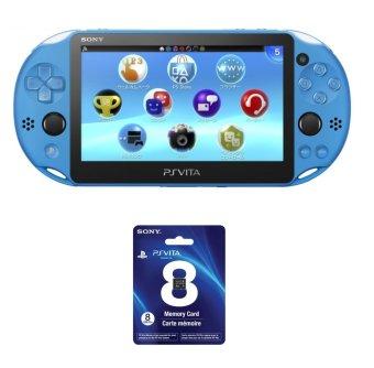Máy chơi game PS Vita 2000 Aqua Blue kèm thẻ nhớ 8GB