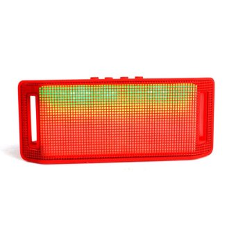 Mini LED Bluetooth Speaker Wireless for iPhone Samsung Tablet Red Intl