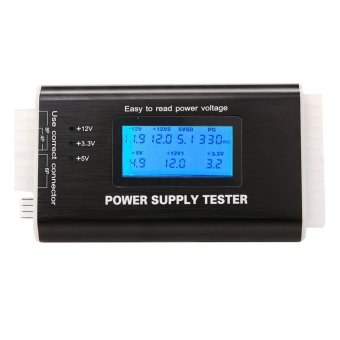 NEW Digital LCD Power Supply Tester (Black) - intl