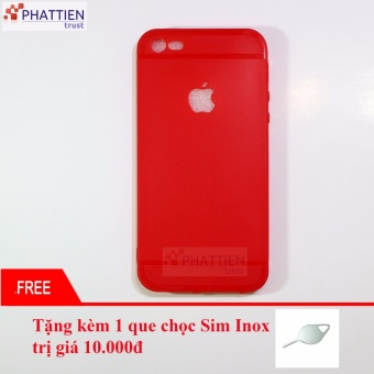 Ốp lưng silicone dẻo cao cấp cho iphone 5/5s đỏ
