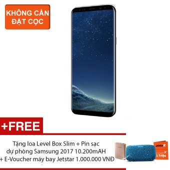 Samsung Galaxy S8 Plus 64G Ram 4GB 6.2inch (Đen Huyền Bí) - Hãngphân phối chính thức + Tặng loa Level Box Slim + Pin sạc dự phòngSamsung 2017 10.200mAH + E-Voucher máy bay Jetstar 1.000.000 VNĐ