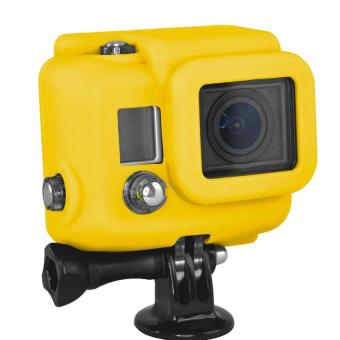 Yellow Silicone Dustproof Protective Case Cover for GoPro Hero 3 Camera intl