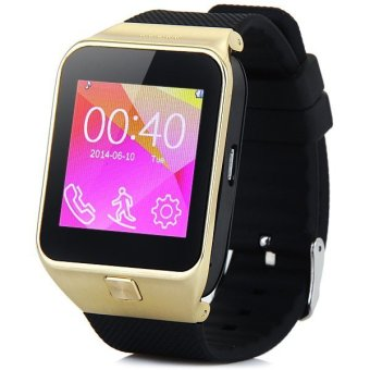 ZGPAX S28 Smart Watch Phone with 1 54 inch Touch Screen Single SIM Bluetooth Camera MP3 MP4 Gold intl