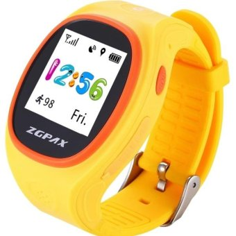 ZGPAX S866A 1 22 Inch IPS Screen Lovely Children Smartwatch GPS Tracking Watch Support SIM Card 2G Network Accurate Positioning HD Voice Call Pedometer Alarm Clock Family Number Speed Dial Yellow intl