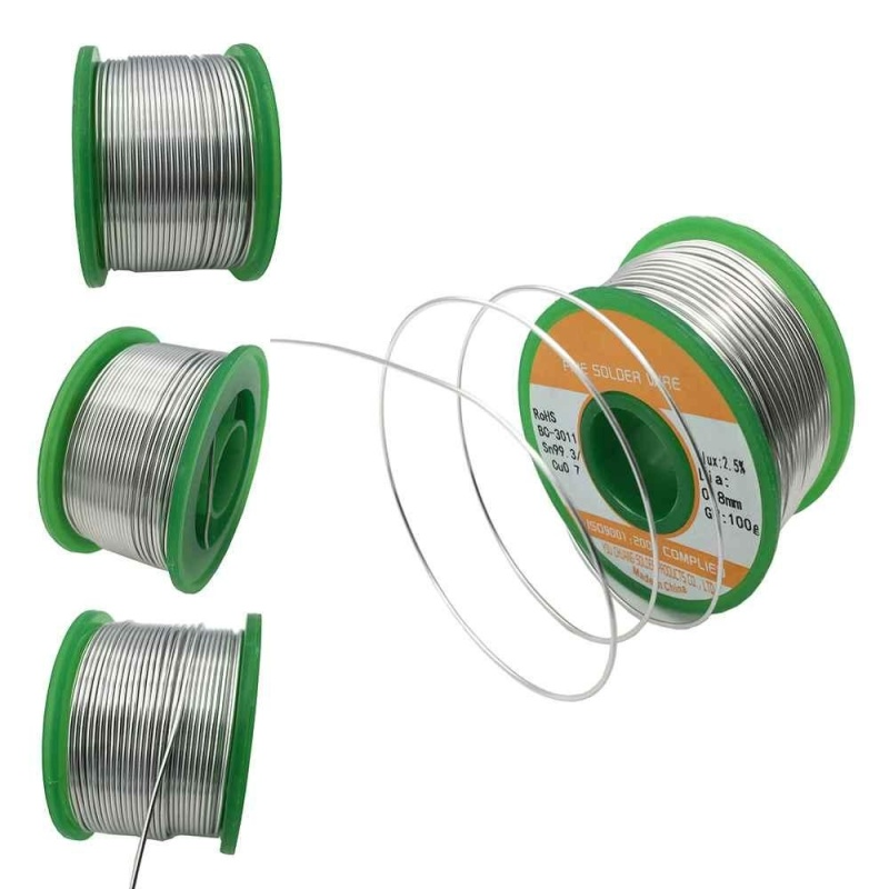 0.6/0.8/1.0mm 50g Rosin Core Solder Flux Tin Alloy Soldering Welding Wire Reel - intl