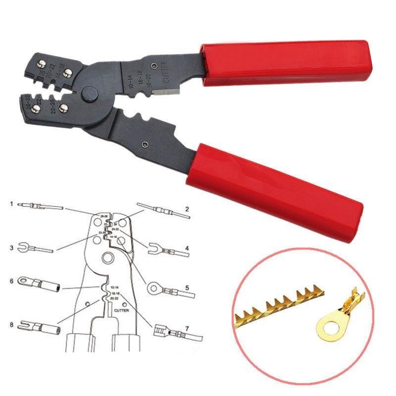 1 PC New Multi functional HS-202B Portable Hand Crimping Tool Plier Terminals Crimpper - intl
