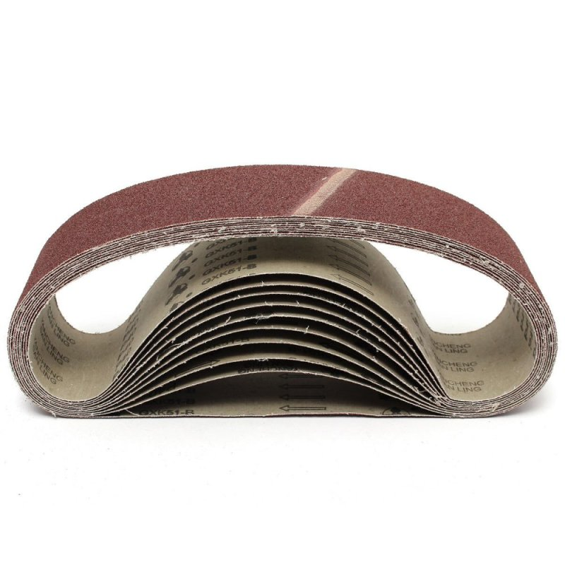 10pcs Abrasive Sanding Belts Paper 93x935mm For Sanding Light Metal Woodwork (Intl)