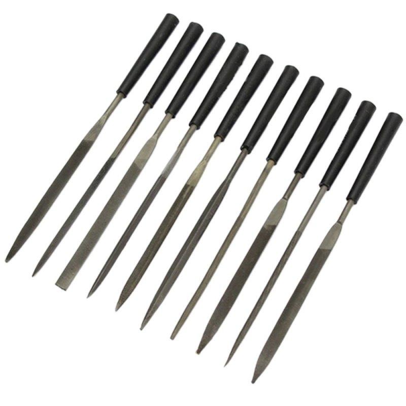 10pcs Stone Jewelers Diamond Wood Carving Craft Metal Needles Files Sewing - intl
