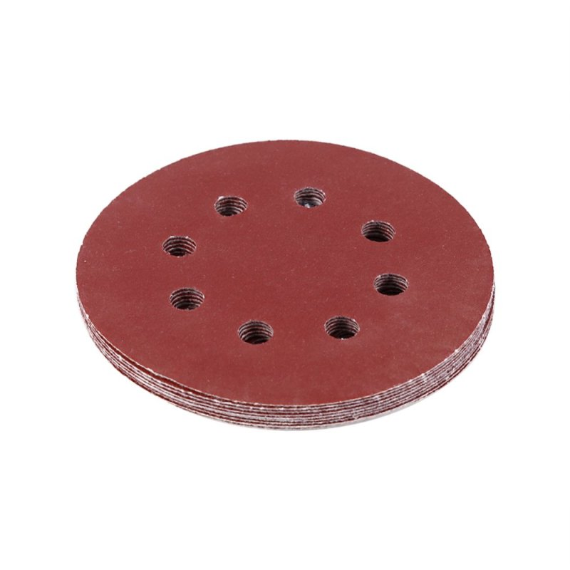 125mm Buffing Pads Red Sanding Discs 8 Hole Grit Sand Papers(150#) - intl