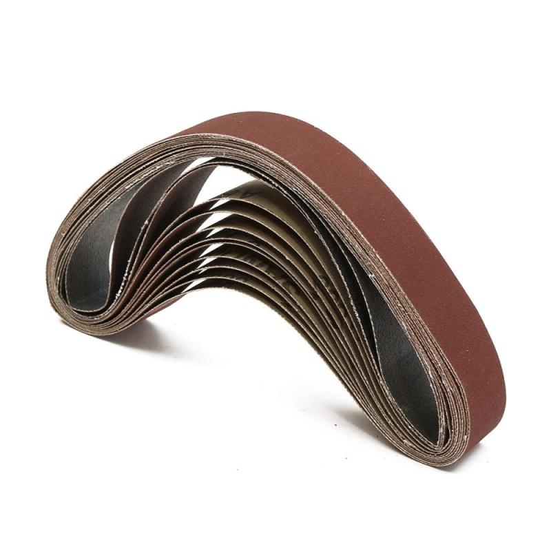 "12PCS 1x20"" Inch 25×500mm Silicon Carbide Sanding Belts 400 600 800 1000# Grit - intl"